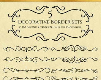 Decorative Border Sets - 10 Brushes for Photoshop, Commercial Use