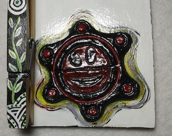 Magnet Refrigerator Note Holder, Handmade Magnet Sol Taino Holder Fridge Magnet, Magnet holder,Place card holder, Decorative Magnet Holder