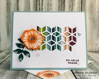 Stampin Up Handmade Greeting Card, Oh, Hello Friend Card