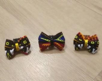 3 mini clips multicolored wax