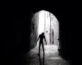 Zombie Walker in Archway - Walking Dead Inspired