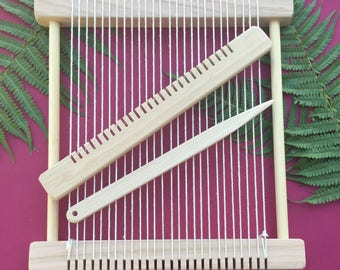 "Weaving Loom Kit - ""Barn Owl"" Large Steiner Waldorf Inspired Hand-made Craft Kit"