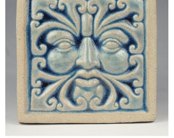 Wind Greenman Tile