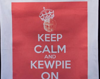Kewpie Queen tea towel - Keep Calm and Kewpie On