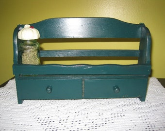 Vintage Spice rack / Vintage Shelf with Spices