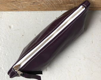 Purple Patent Leather Ditty Bag