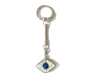 Evil Eye Swarovski Crystal Keychain / Zipper Charm