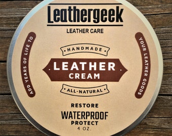 LeatherGeek™ Leather Cream Conditioner | Restores, Waterproofs and Protects | Leather Care for Purses, Jackets, Shoes, Boots Made in USA