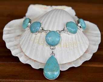 Blue Mohave Turquoise Necklace