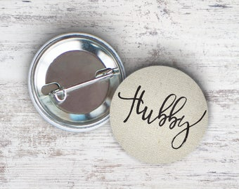"Hubby 2.25"" Pinback Button"