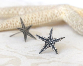 Starfish Silver Post Earrings, Silver Starfish earrings, Smally size