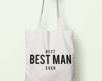 Best Best Man Ever Tote Bag Long Handles TB1273