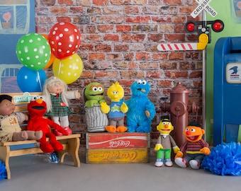 Sesame Street Set Digital Backdrop