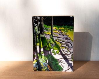 Forest Painting Art, Woodland Art Block, Landscape Painting, Woodland Wall Art, Tree Painting Print, Nature Artwork Print, Forest Print