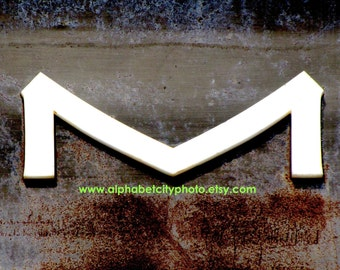 LETTER M No.3 8x10 Horizontal Photo, ASIAN INDUSTRIAL, Alphabet Photo Letter