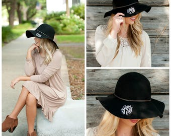 Black Wool Floppy Hat