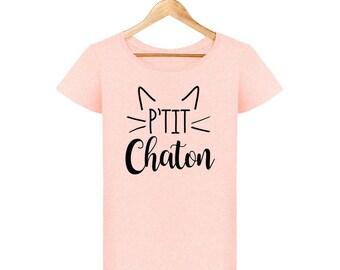 T-shirt p' little kitten woman