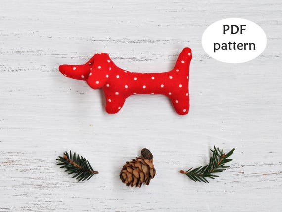 Dachshund Sewing Pattern. Christmas Sewing Pattern. Sausage Dog ...