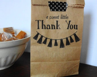 Candy Buffet Bags, Wedding Favor Bags, Thank You Favor Bags, Reception Favor Bags, Kraft Favor Bags, Favour Bags, Birthday Bags, Set of 10