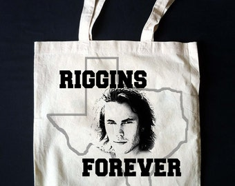 RIGGINS FOREVER!!  Tim Riggins Fantasy Dream Tote! Friday Night Lights Texas Forever Canvas Tote Bag Taylor Kitsch **Made To Order**