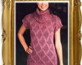 Model tunic knit woman diagram and international chart in photo (not d written explanation) pdf format
