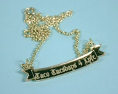 Taco Tuesdays 4 Lyfe Heraldry Scroll Gold Mirror Acrylic Necklace