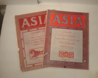On Sale,  Asia , The American Magazine Of The Orient , 1921, 1922, India , China