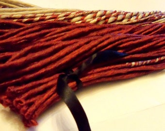 90 Sweet Red Synthetic Custom Dreads Dreadlock Hair Extensions or Dread Falls