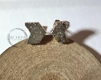Sugar Druzy Arrow Stud Earrings