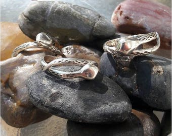 silver Snake rings adjustable is handmade by Old Hippie Dave 925 sterling silver adjust to any size  great valentine gift