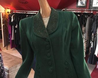 Gorgeous vintage emerald green blazer