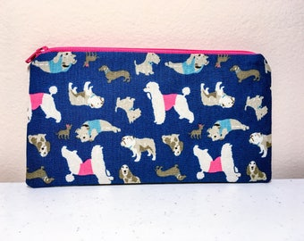 Dog Lover Pencil Case Pouch Organizer Zippered Pouch