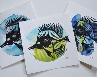 Linoleum Fish Print