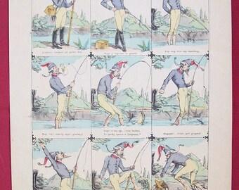 Incidents de Peche French Newspaper Illustration