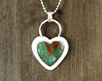 Little Arizona Turquoise Heart Pendant