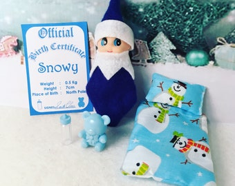 Baby Elf Snowy The Shelf Sitter Doll With Accessories