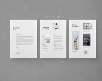 Resume Template - CV Template - Cover Letter - Creative Resume - Instant Download