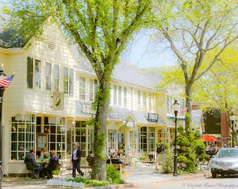 Main STREET FALMOUTH Cape Cod, Massachusetts, Fine Art Photography, Travel, Architecture, New England, Town, Liz Thomas