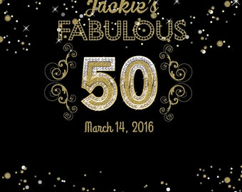50th birthday party decor, Glam Gold backdrop, Dessert Table backdrop, Faux Gold letter, Backdrop for boy and girl, Golden jubilee Birthday
