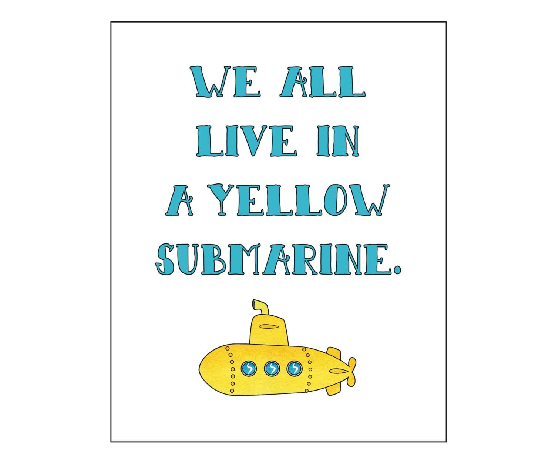Yellow Submarine lyrics by Beatles - original song full ...