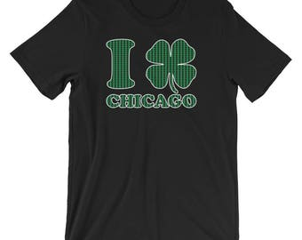 I Shamrock Chicago St Patrick's Day Irish T-Shirt | Funny Chicago Parade Day 2018 Drinking Ireland Holiday Shirt | Best Gift Short-Sleeve
