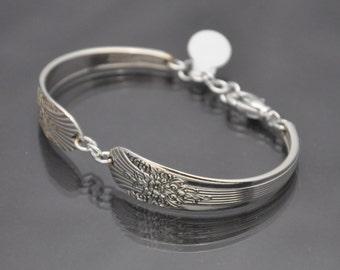 1935 Silver Mist/Marigold Vintage Silverware Bracelet