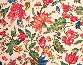 "Laura Ashley ""Lewes"" cotton fabric 48 x 18.5"" 1992 (2)"