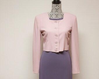 Vintage Pink Blazer 1980s women's Pink Blazer Jacket by Barami size 4
