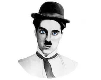 Charlie Chaplin Watercolor Print (FREE U.S. Shipping)