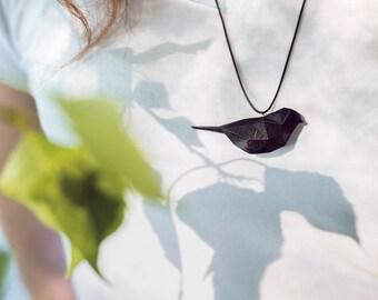 Black bird - 3D printed Polygonal Pendant