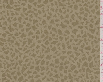 Camel Tan Animal Print Ultrasuede, Fabric By The Yard