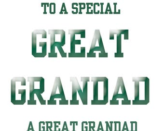Great Grandad Fathers Day Card
