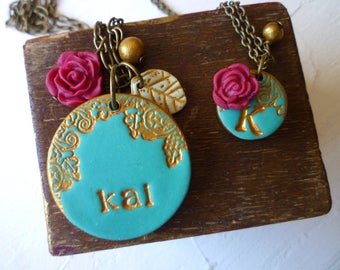 Mother Daughter Jewelry - Mother Daughter Necklace Duo - Mom Daughter Necklace set