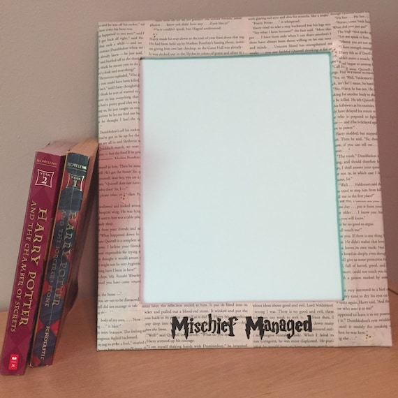 8x10 Harry Potter Picture Frame, Mischief Managed, Harry Potter gift ...